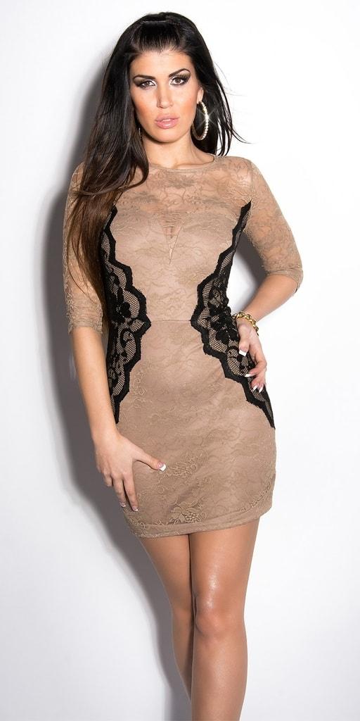 Koucla Elegantní krajkové šaty