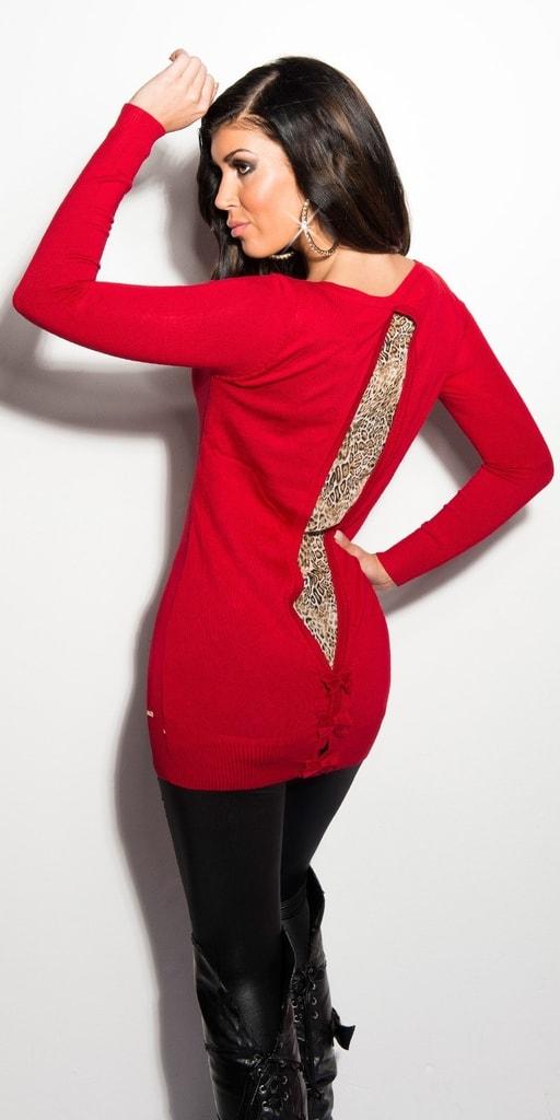 Koucla Červený dámský svetr
