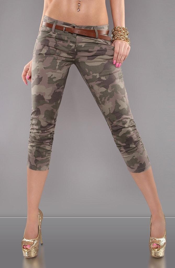 Koucla Army dámské kalhoty s páskem 73955cce54