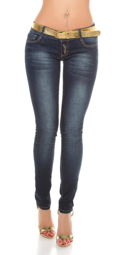 Koucla Dámské džíny s páskem