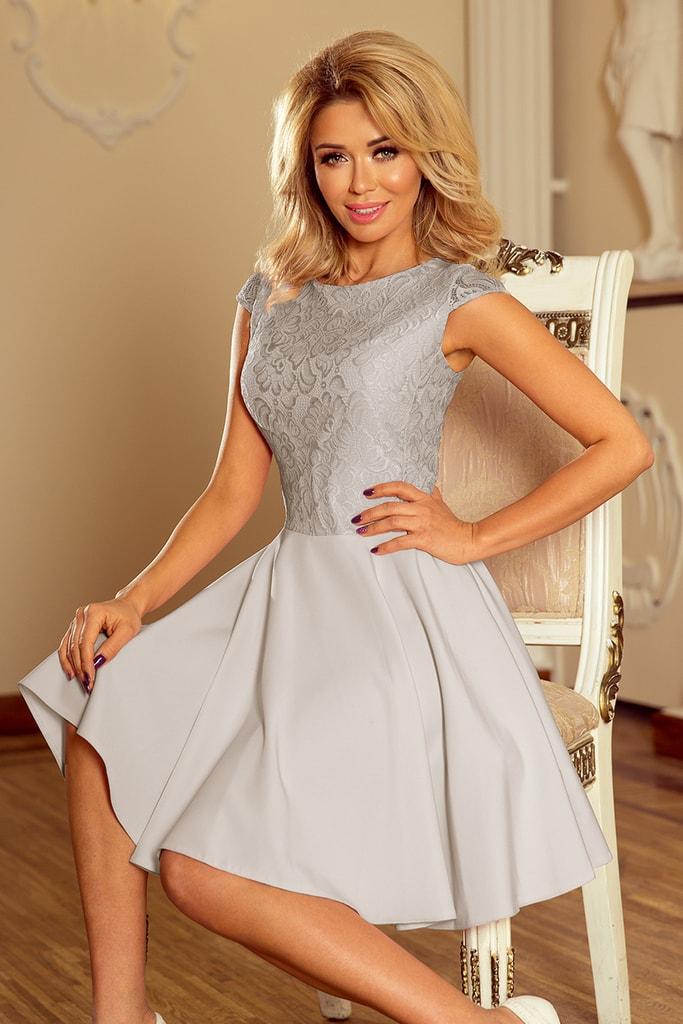 Numoco Večerní šaty s krajkou