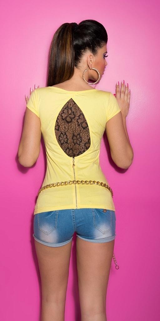 Koucla Dámské tričko - žluté