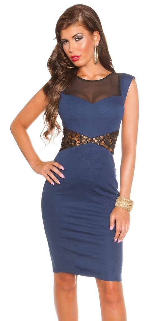 Koucla Koktejlové šaty - modré