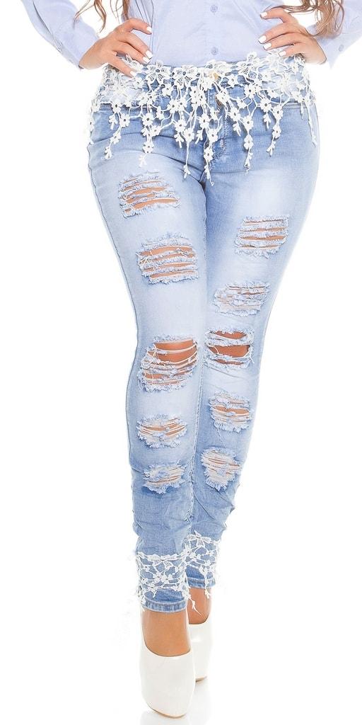 Koucla Dámské džíny pro plnoštíhlé