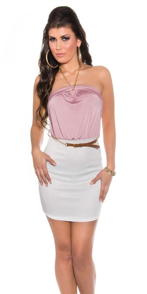 Koucla Letní dámské šaty s páskem