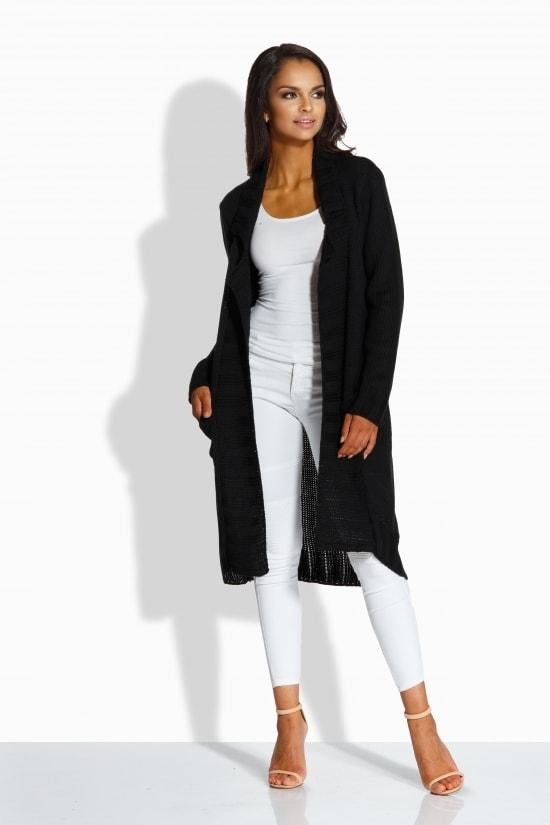 Lemoniade Černý pletený svetr