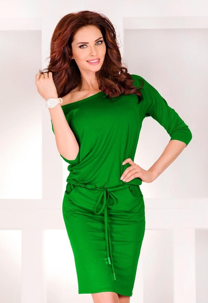 Numoco Zelené dámské šaty 13-18