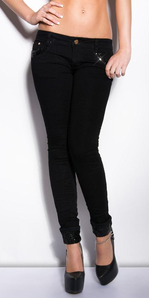 Koucla Stylové černé džíny
