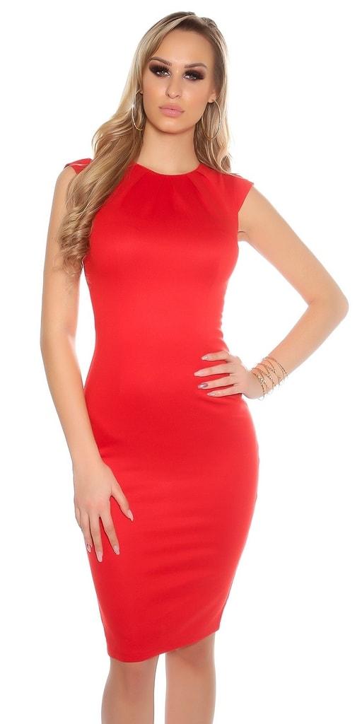 Koucla Pouzdrové šaty červené