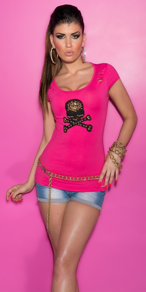 Koucla Dívčí tričko s průstřihy