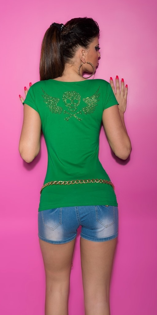 Koucla Letní dívčí triko-zelené