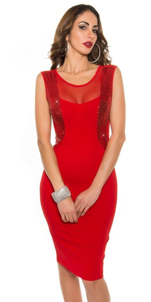 Koucla Červené koktejlové šaty