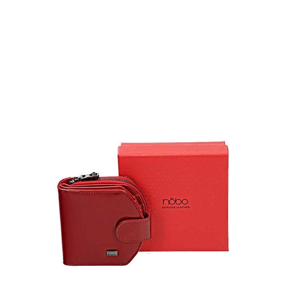 NOBO Červená kožená peněženka