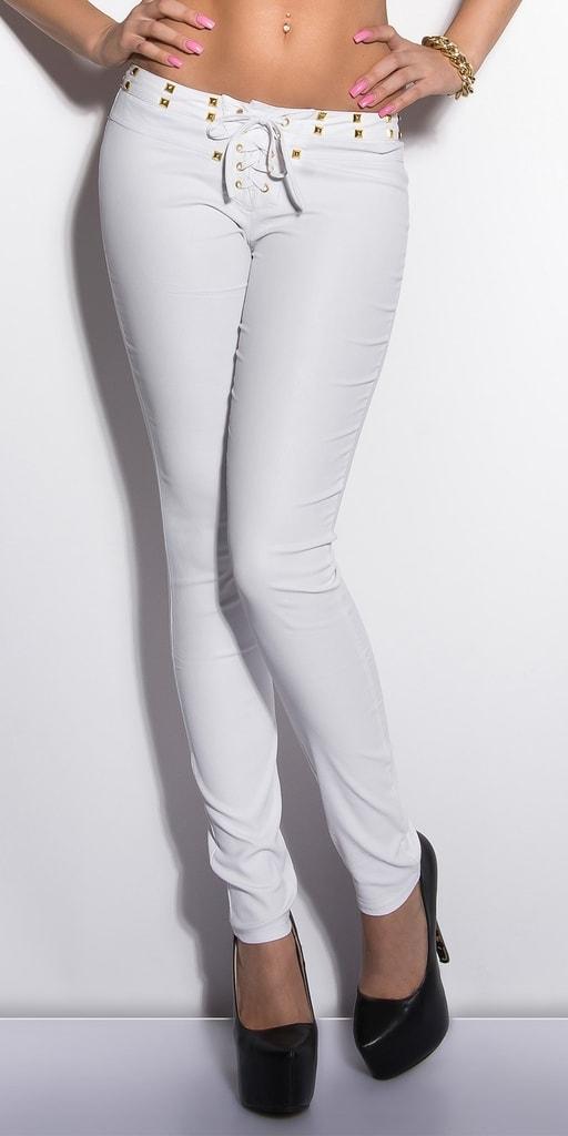 Koucla Bílé kalhoty se šněrováním