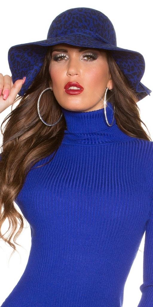Koucla Dámský stylový klobouk modrý
