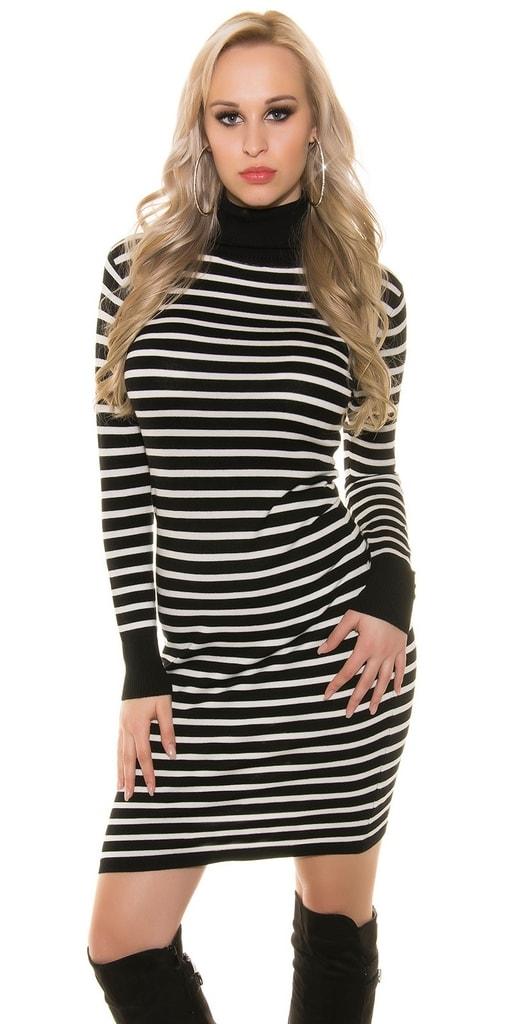 Koucla Černobílé dlouhé šaty