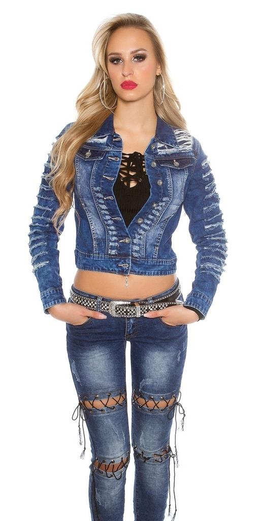 Krátká dámská džínová bunda