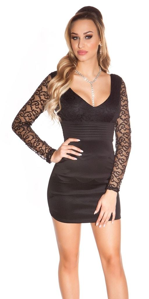 Koucla Černé šaty s krajkou