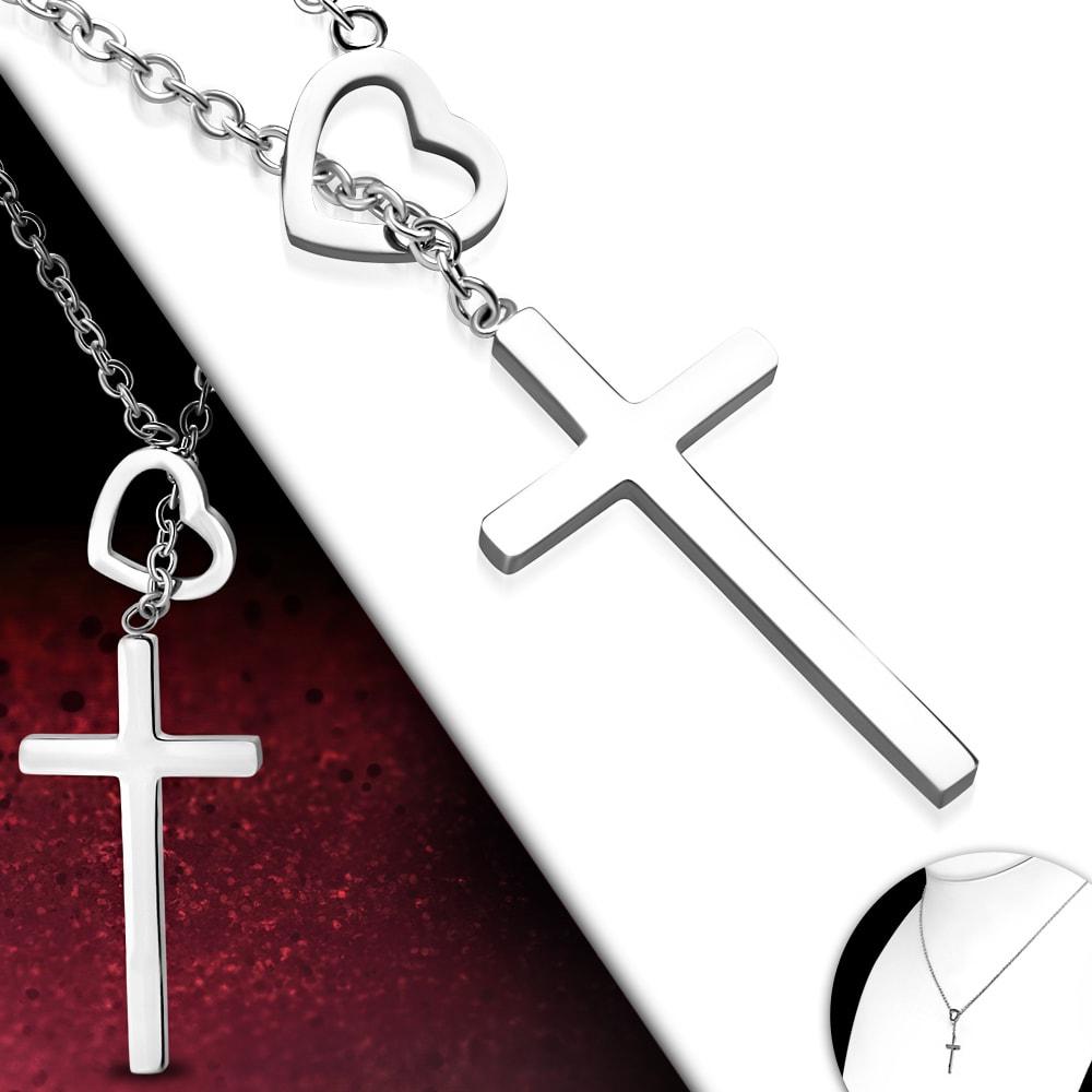 DAMSON Řetízek s přívěskem - křížek