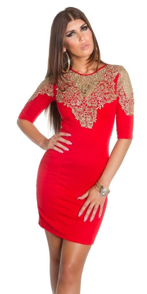 Koucla Večerní červené šaty
