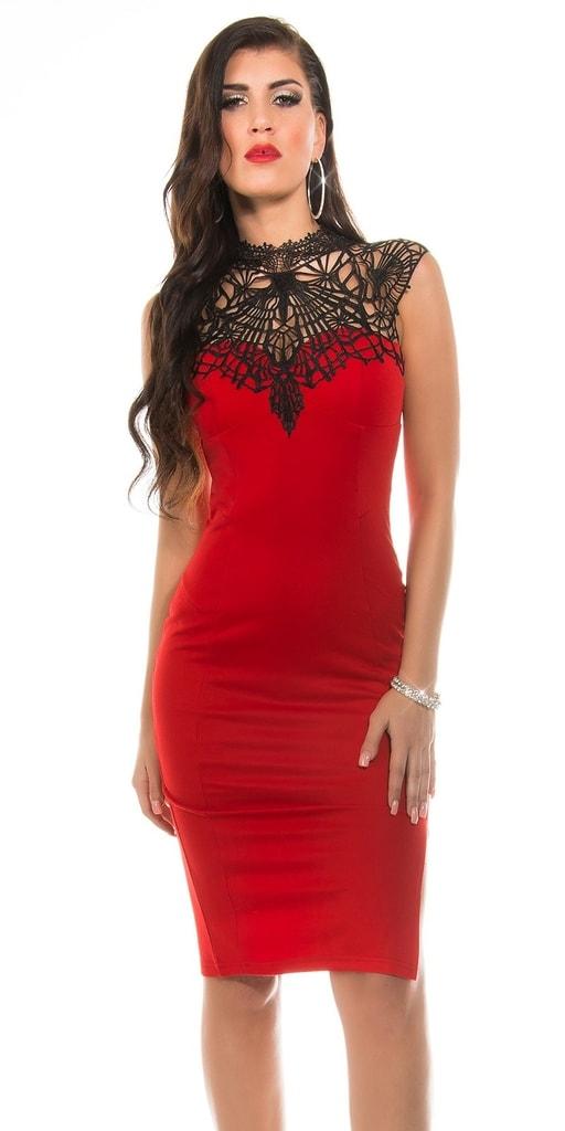 Koucla Červené šaty dámské