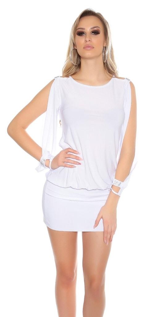Koucla Dámské bílé mini šaty