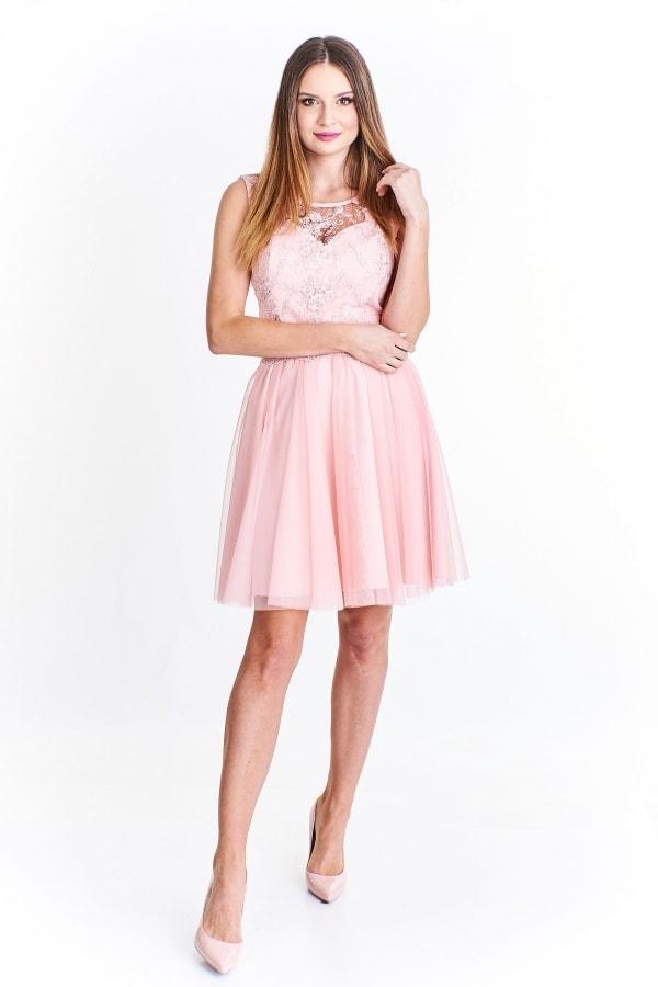 La toya Šaty na ples krátké růžové