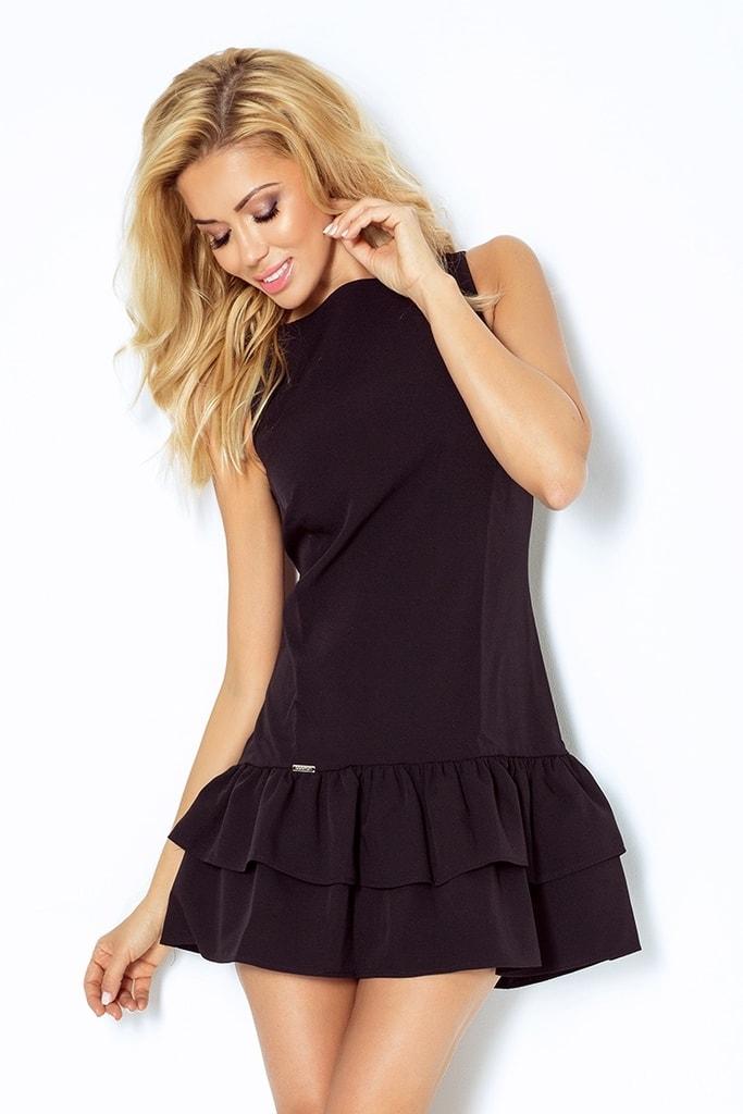 Numoco Černé dámské šaty 113-2