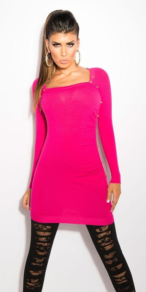 Koucla Růžový svetr dámský
