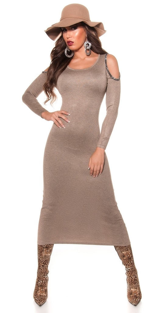 Koucla Úpletové dlouhé dámské šaty