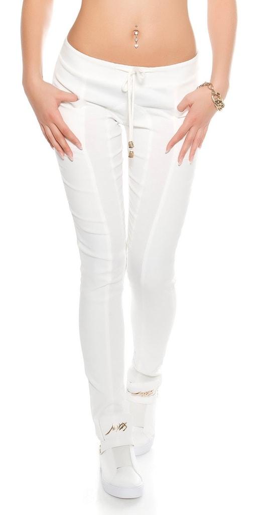 Koucla Bílé dámské kalhoty