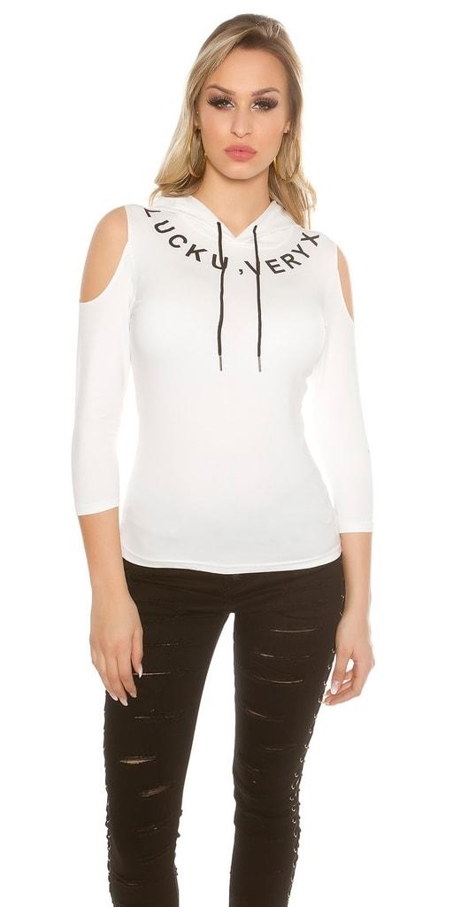 Koucla Dámské tričko s kapucí