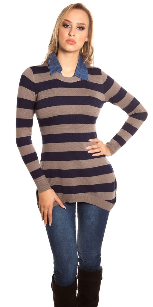Koucla Trendy pulovr s límečkem