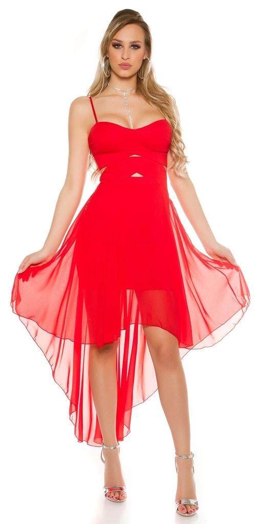 Koucla Červené plesové šaty