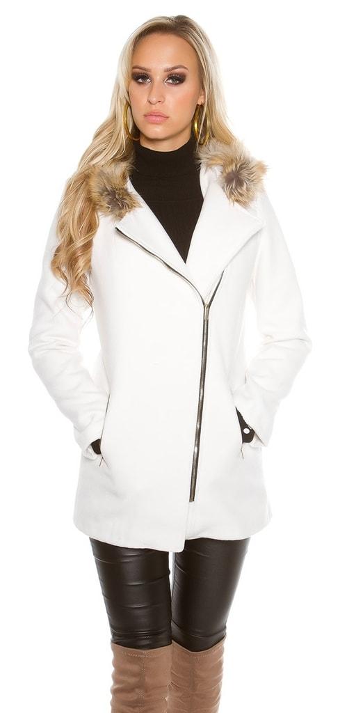 Koucla Dámský kabát s kapucí