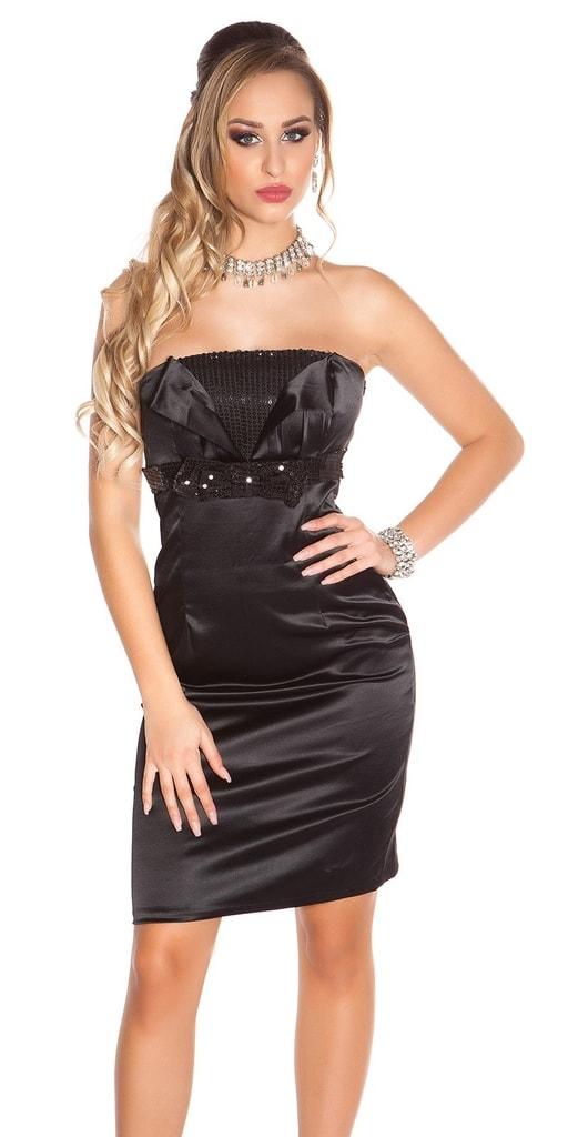 Koucla Černé koktejlové šaty