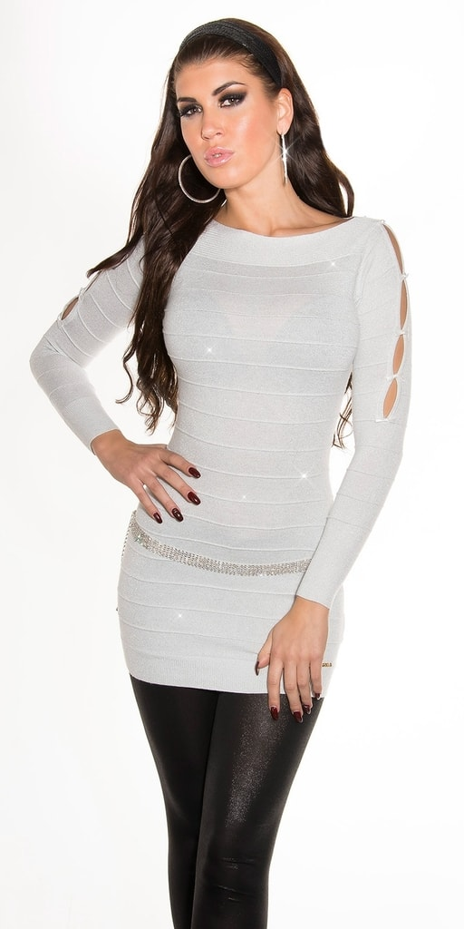 Koucla Bílý svetr dámský