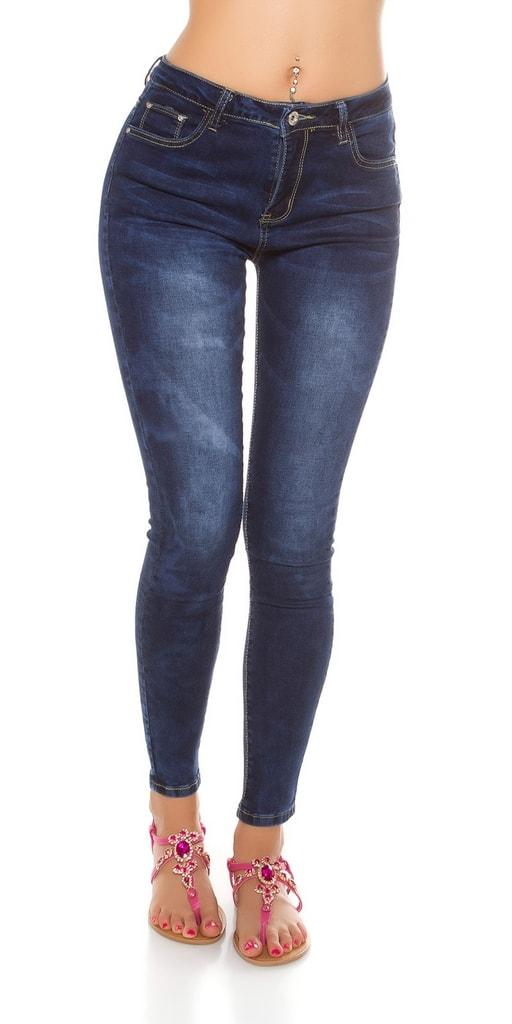 Koucla Dámské skinny džíny s vysokým pasem