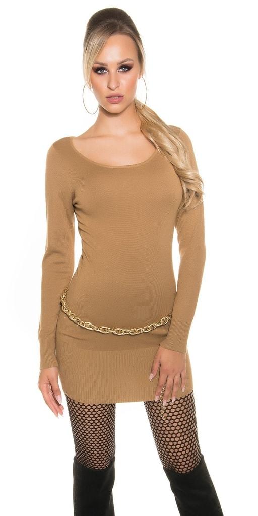 Koucla Úpletové dámské mini šaty