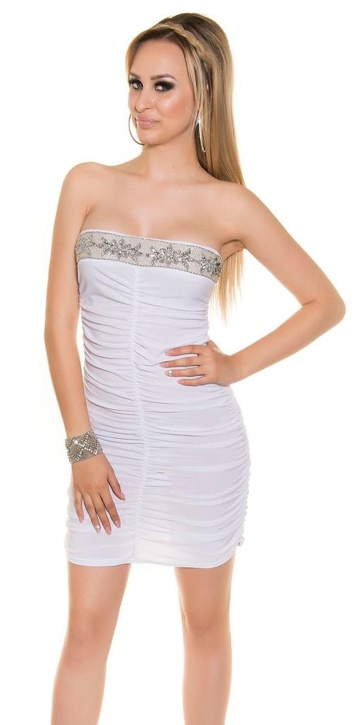 Koucla Bílé dámské šaty