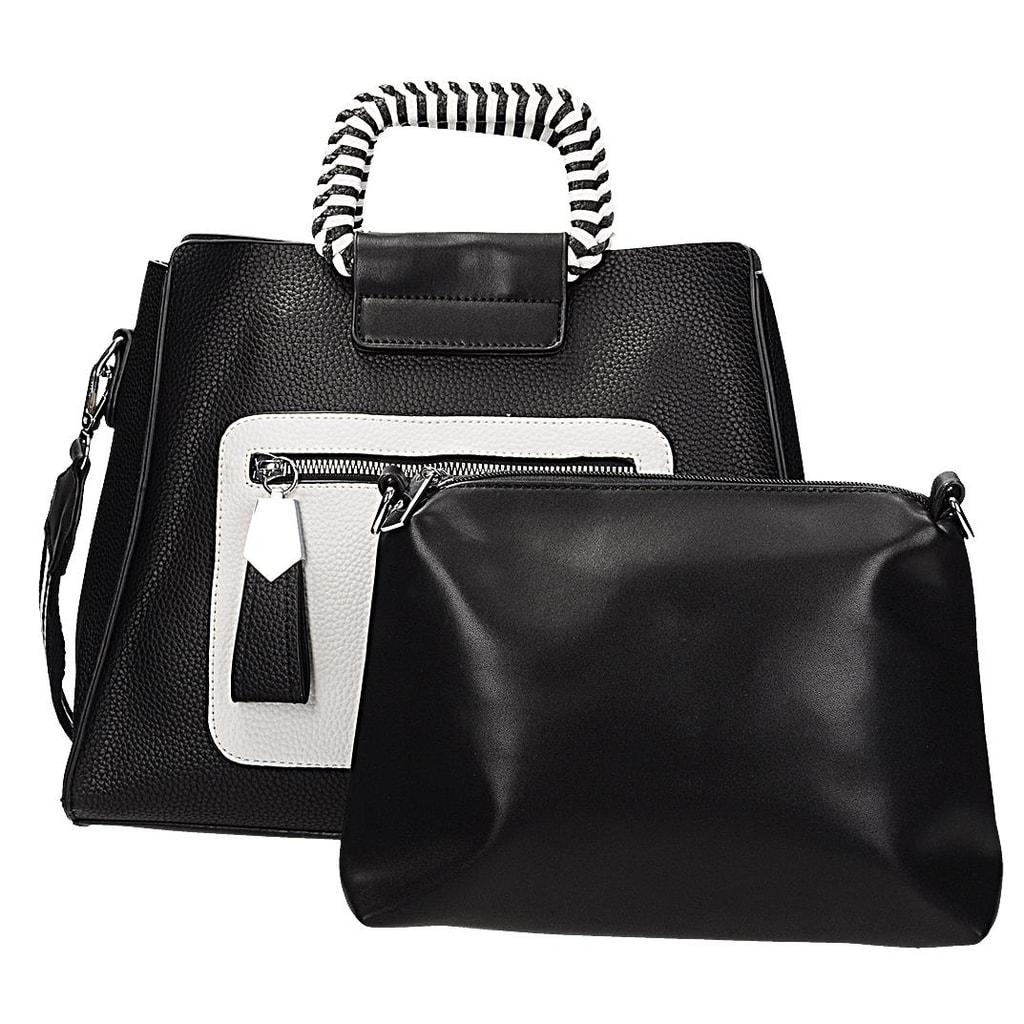 VERYRIO Černá elegantní kabelka
