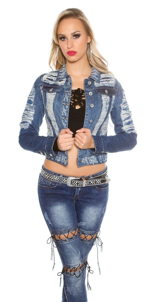 Koucla Dámská džínová bunda