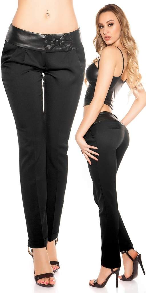 Koucla Dámské černé kalhoty