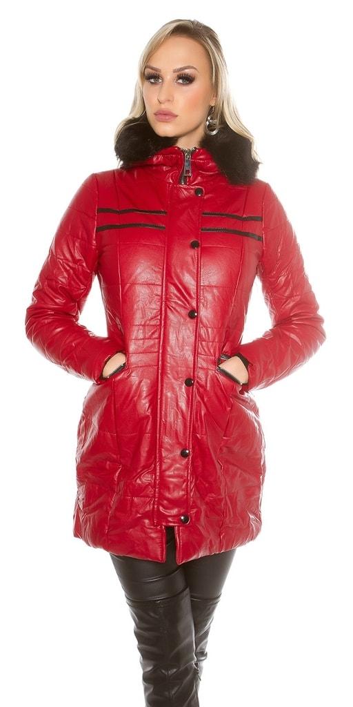 Koucla Červená zimní bunda