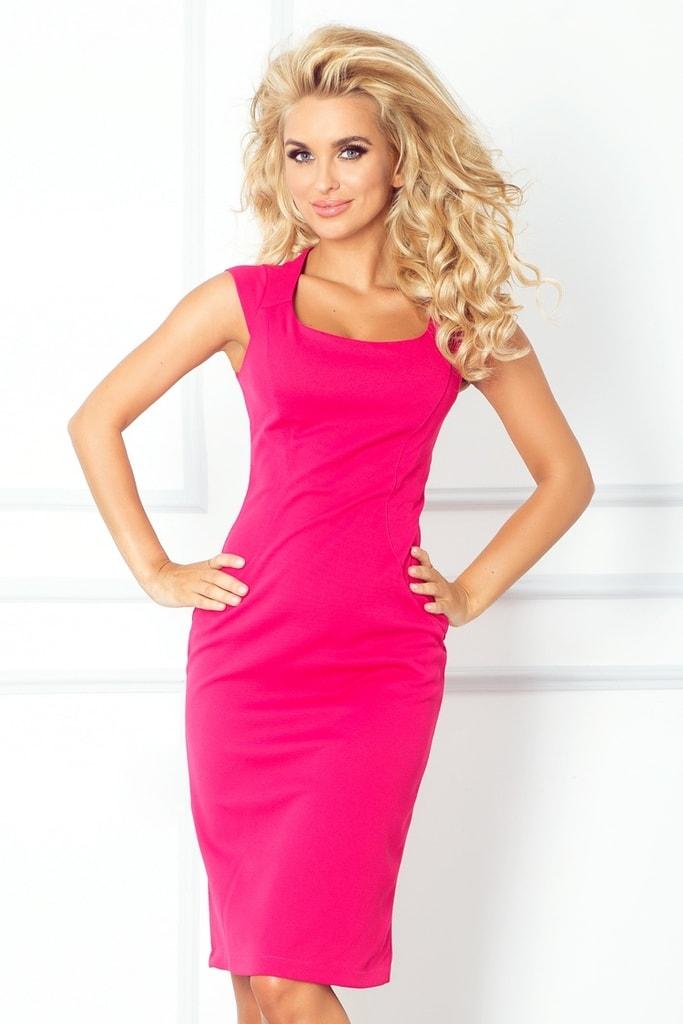 Numoco Růžové dámské šaty 53-11A