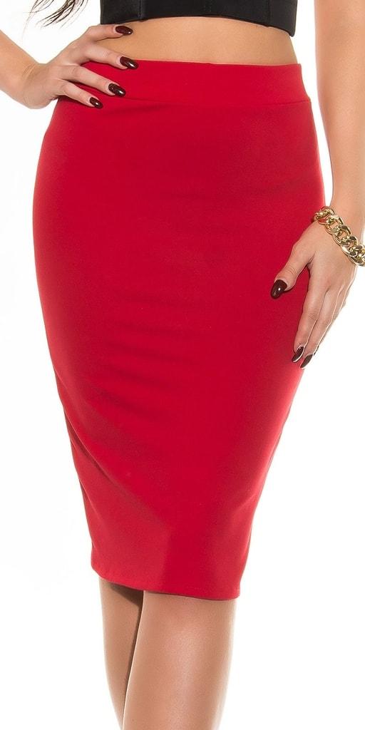 Koucla Červená elegantní sukně