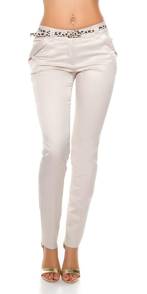 Koucla Dámské kalhoty s páskem