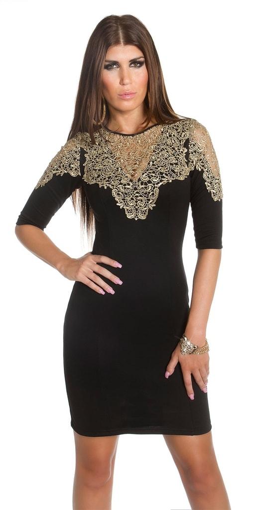 Koucla Pouzdrové šaty černé