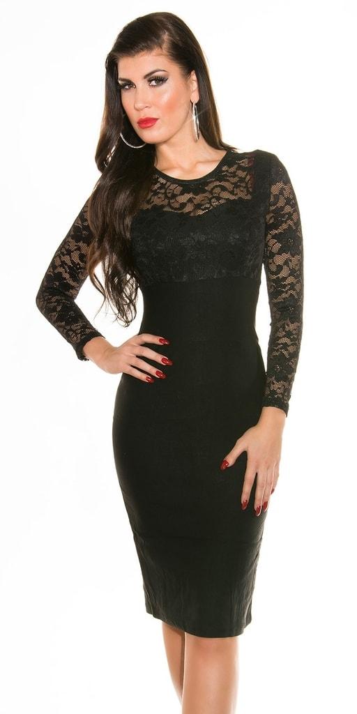 Koucla Černé pouzdrové šaty