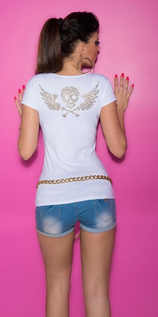 Koucla Bílé dívčí triko